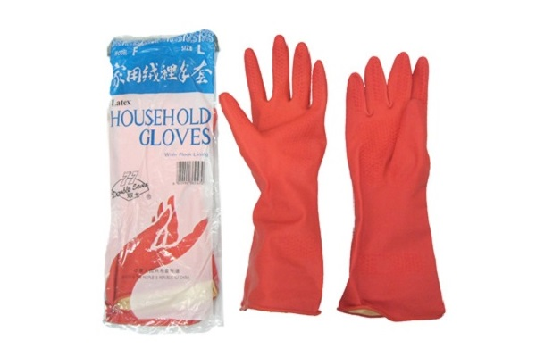 Red Plastic Gloves (Large)