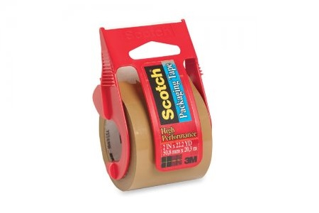 3M #142 Mail Adhesive Tape with Dispenser (Brown)